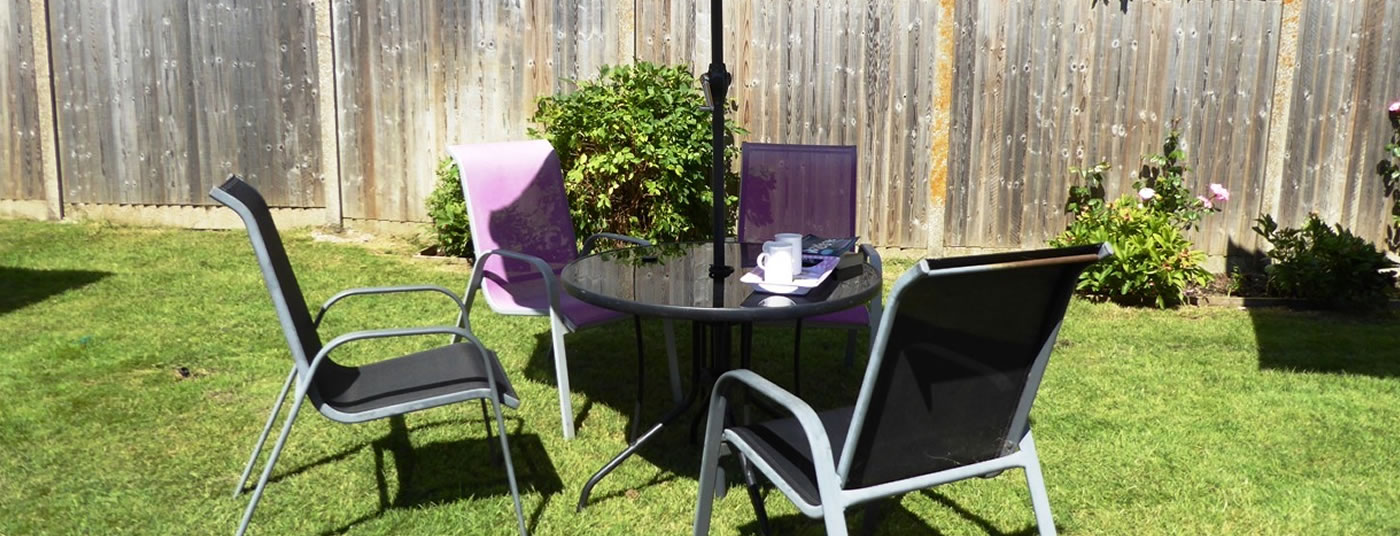 Secure Garden with patio furniture